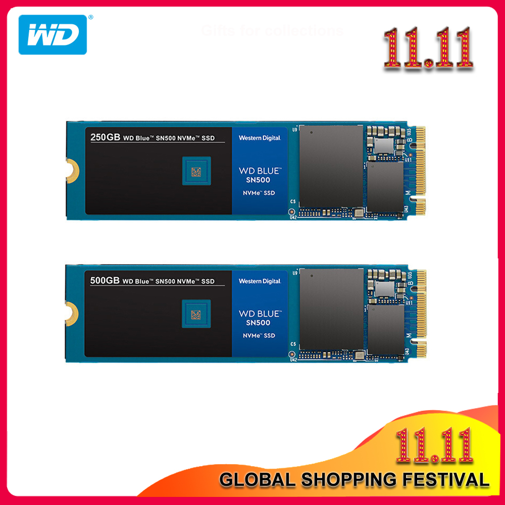 100% Original Western Digital Blue SN500 SSD 250GB 500GB M.2 2280 NVMe PCIe Gen3*2 Internal Solid State Drive For Desktop/Laptop title=