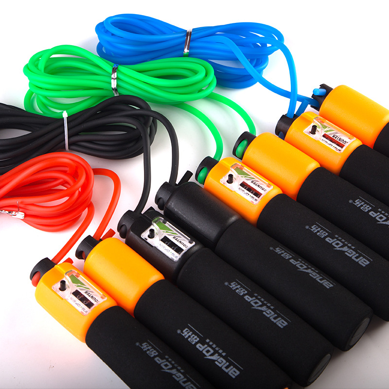 Ontop PVC Count Jump Rope Students The Academic Test For The Junior High School Students Training Foam Count Jump Rope At0516