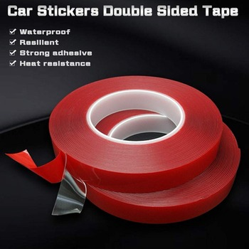 1PC 6mm*3m*1mm Transparent Silicone Double Sided Tape Sticker For Car High Strength No Traces Adhesive Sticker Living Goods karmic traces