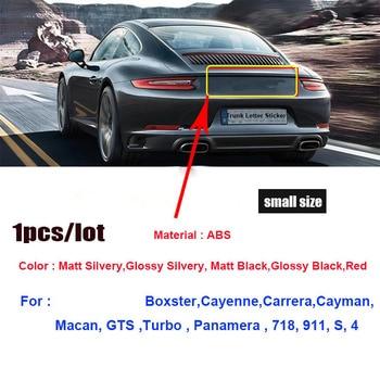 1 pièces 3D Abs matériel 718 911 s 4 voiture arrière coffre emblème autocollant Auto queue Boot étiquette autocollants Auto emblèmes pour 911 Boxster Cayman