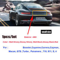 1pcs 3D Abs Material 718 911 s 4 Car Rear Trunk Emblem Sticker Auto Tail Boot Label Decals Auto Emblems for 911 Boxster Cayman