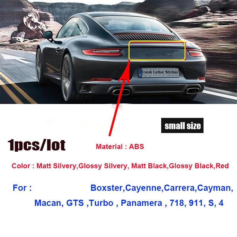 1pcs 3D Material Abs 718 911 s 4 Bota Traseiro Trunk Emblema Etiqueta Auto Cauda Etiqueta Decalques Do Carro Auto emblemas para 911 Boxster Cayman