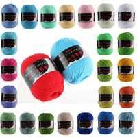 10 Uds pañuelo nuevo Handcraft Pack de suave, artesanía de punto DIY 50g suéter de algodón de leche colorido artesanía de hilo lote ganchillo tejer lana
