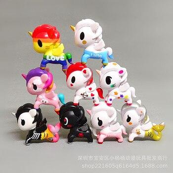 9pcs/lot Figma Gifts for Women Girl Tokidoki Unicornio Action Figure Mini Model Cute Unicorn pvc toys