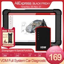 UCANDAS VDM WIFI USB OBD2 סורק מקצועי מלא מערכת רכב סורק Obd 2 רכב אבחון כלי רב לשוני עדכון חינם