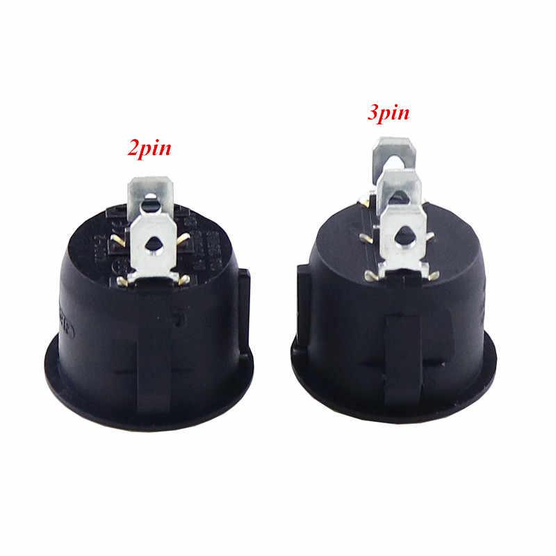 1 قطعة أحمر أسود أبيض ON/OFF مدور الروك تبديل التبديل 6A/250VAC 10A 125VAC مفتاح بـزر دفع بلاستيكي 2PIN