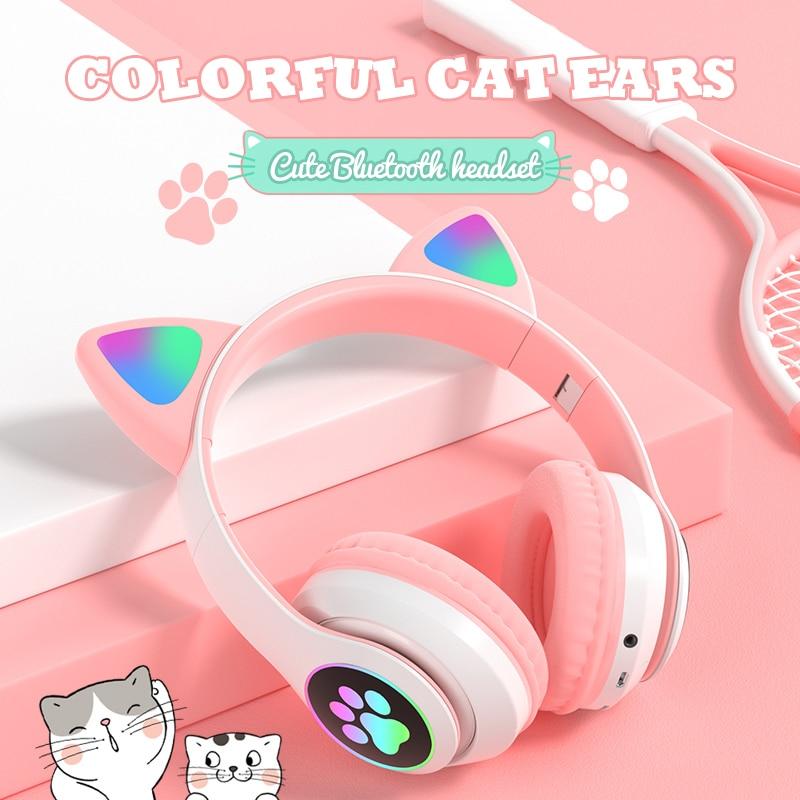 Colorful Cat Ear Headphones