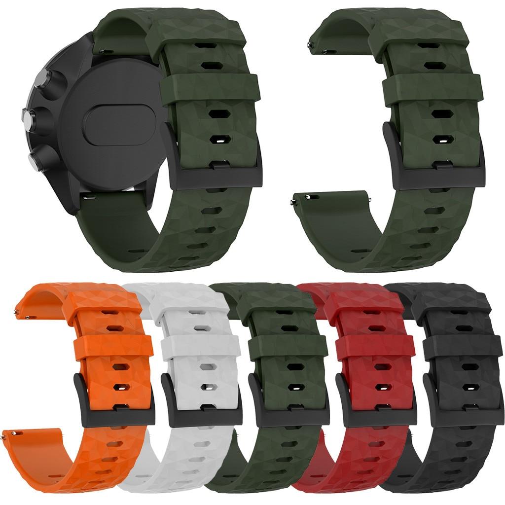 Sport Silicone Bracelet Watch Band Wrist Strap For Suunto 9/9 Baro Copper Watch Bracelet Strap Watch Wrist Belt 5 Colors 19Nov06