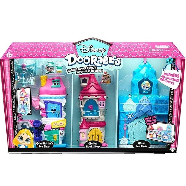 Disney Doorables Frozen Elsa Snow White Belle Princess Castle Luxury Fairytale House Q Dollhouse Kids Toys Girls Christmas Gift 6