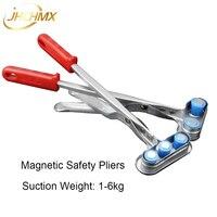 JHCHMX Alicates De Segurança Magnético Forte Lidar Com Dispositivo de Segurança De Metal Máquinas de Corte A Laser De Fibra Selecionador