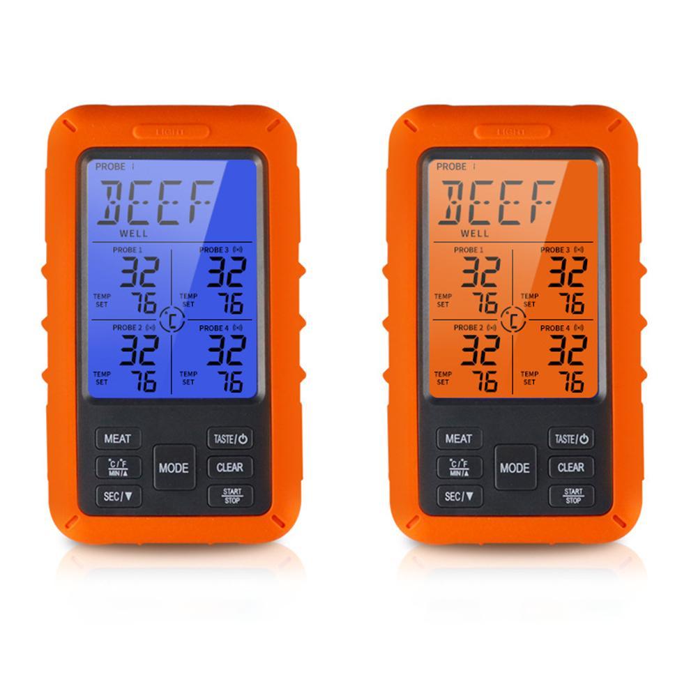 Беспроводной цифровой термометр для мяса, цифровой прибор для приготовления пищи, измерения температуры, приемник для барбекю, гриля, кухни... - 3