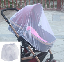 2PCS Hot Summer Newborn Baby Stroller Pushchair Mosquito Insect Net Safe Mesh Buggy Crib Netting Pushchair Full Cover Netting VC(China)