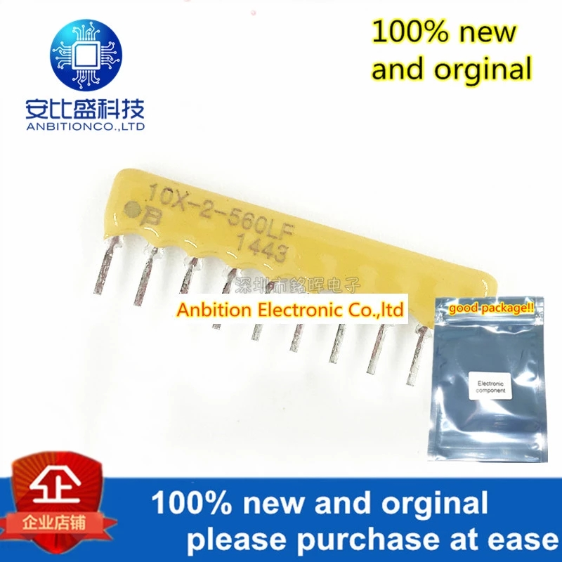 10pcs 100% New And Orginal 4610X-102-560LF 10pin 10X-2-560LF 56R 2% Resistor Network And Array In Stock