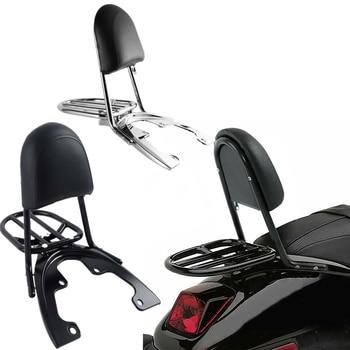 Motorcycle Sissy Bar Backrest Luggage Rack Baseplate For Harley VRSCAW VRSCDX VRSCX 07-11