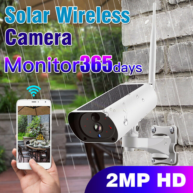 Wireless WiFi Solar IP Camera 1080P HD Security Monitor Audio Waterproof For Outdoor LHB99