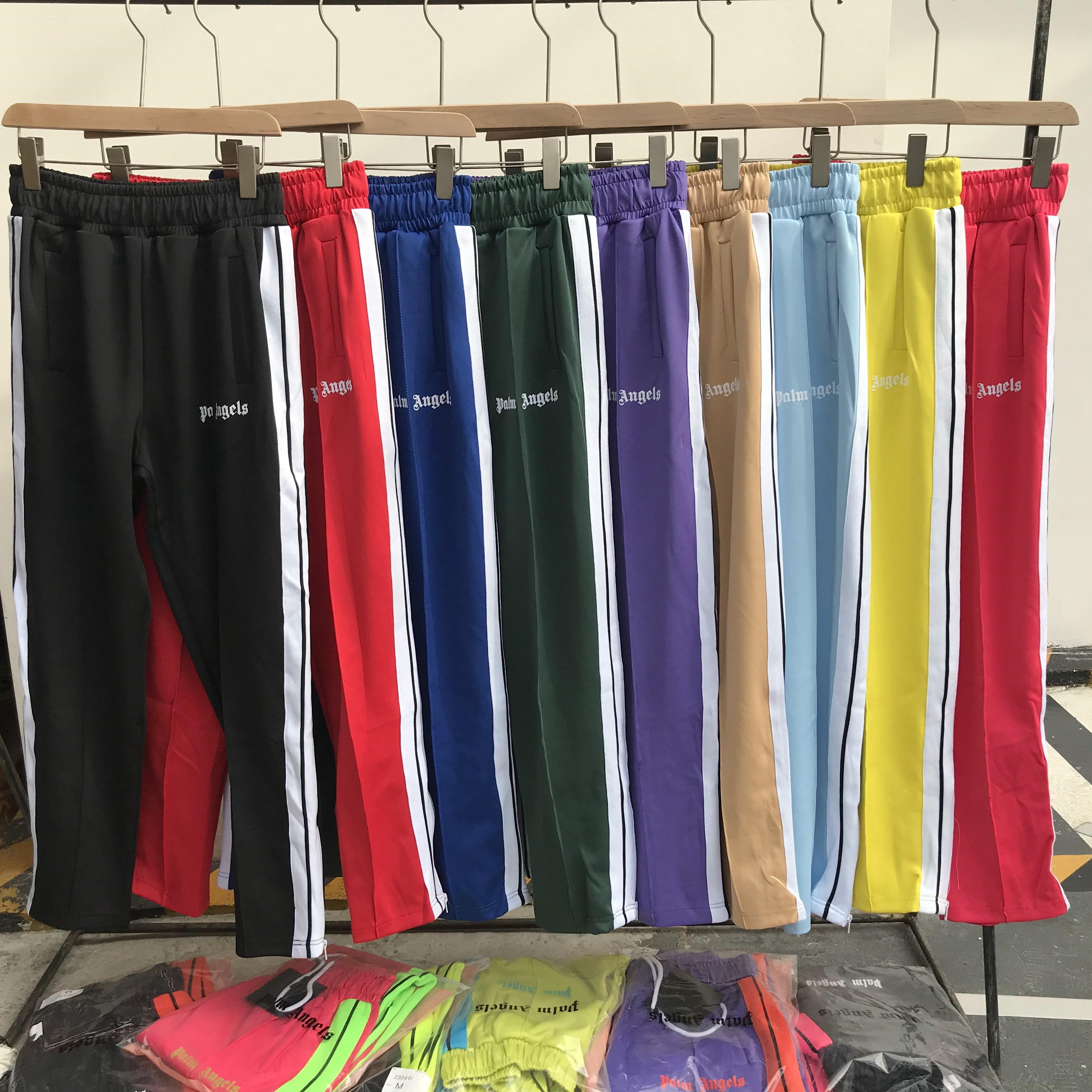 Palm Angels striped side zipper retro campus men's women's sports casual