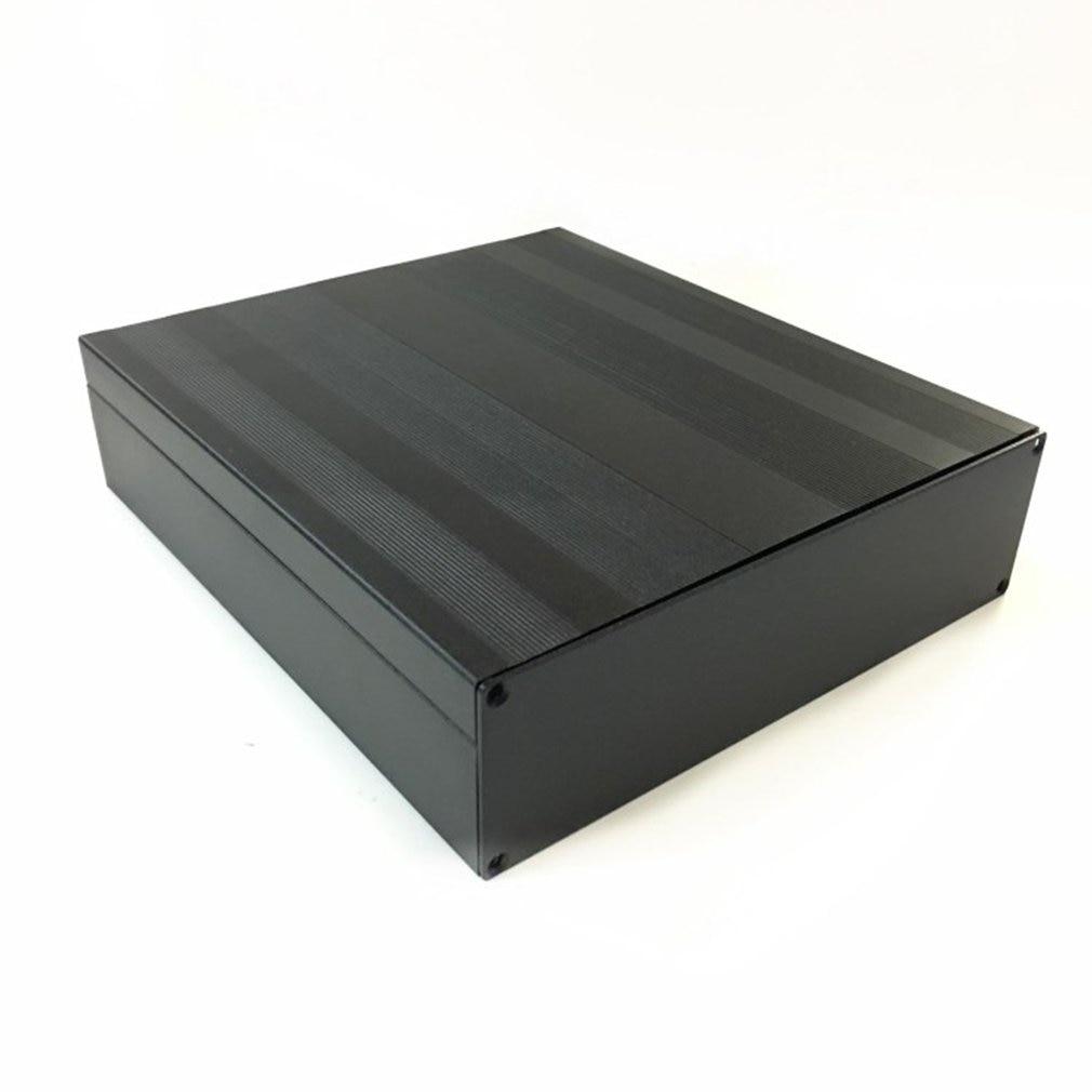 1pcs Cover Project Electronic Instrument Case Enclosure Box  Aluminum DIY Housing Instrument  Case  Black