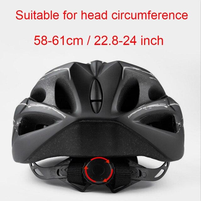 Ciclismo capacete com óculos de proteção ultraleve mtb capacete da bicicleta das mulheres dos homens ciclismo segurança esportes ao ar livre capacete de corrida 4