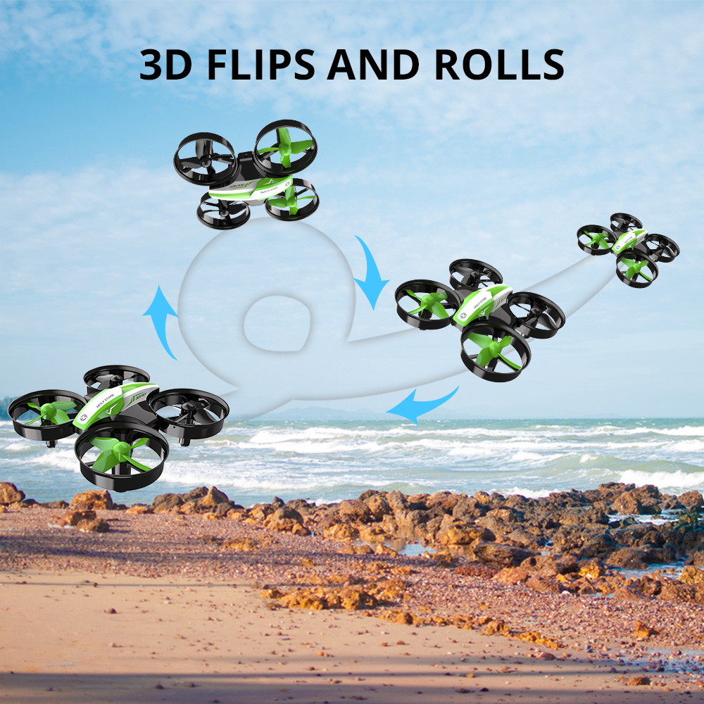 Holy Stone HS210 Mini Drone One Key Take off/Land Auto Hovering 3D Flip Mini Nano Drone RC Helicopter Quadrocopter For Kids 4