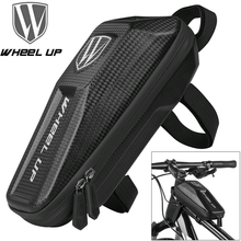 Wheel Up Bicycle Bag Front Frame Bike Bag Hard Shell EVA Cycling Bag Case Waterproof MTB Road Bike Storage Bag Bike Accessories rockbros tool bicycle bag rainproof cycling riding bike bag portable mtb road bike water bottle cycling bag bike accessories