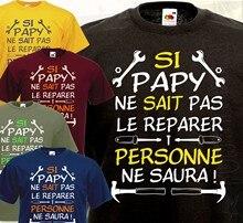 Camiseta-se o vovô não sabe o reparo... Engraçado humor presente ideal vovô