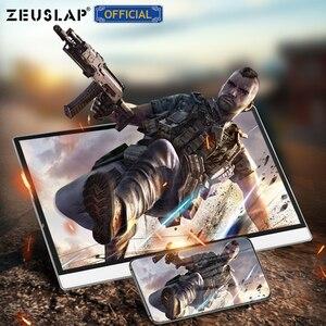 Image 5 - ZEUSLAP מגע מסך נייד צג 1920x1080 FHD IPS 15.6 אינץ תצוגת צג נטענת סוללה עם נרתיק עור