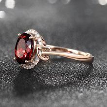 Для женщин кольцо 18k Розовая позолота с рубином подарок на