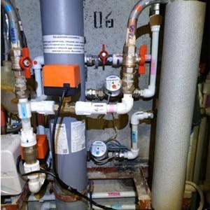Image 3 - 220V 12V ไฟฟ้าวาล์วบอลวาล์วเครื่องปรับอากาศระบบ Controller 2 Way 3  ลวด 1.6Mpa DN15 DN20 DN25