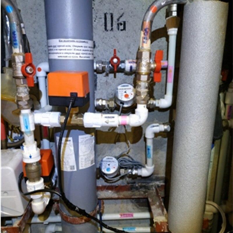 Image 3 - 220V 12V электрический моторизованный шаровой клапан для кондиционирования воздуха воды Системы контроллер 2 полосная 3 жильный 1.6Mpa DN15 DN20 DN25-in Клапан from Товары для дома
