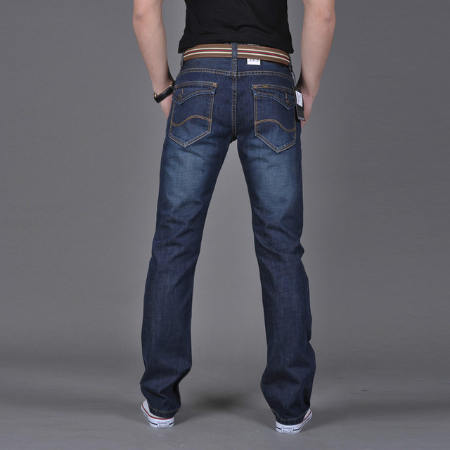 Men Denim Jeans Casual Autumn Winter Cotton Hip Hop Pants Male Loose Work Long Trousers Men Jeans Pants Slim Fit Denim 4