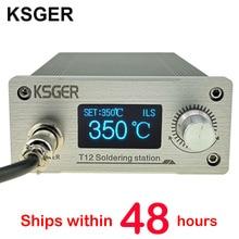 Estación de soldadura KSGER STM32 V3.1S T12, herramientas OLED de bricolaje, puntas de hierro T12, mango de 907, soporte de Metal, Panel frontal CNC, latas de fusión
