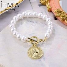 Ifmia 2020 жемчужные браслеты манжеты на цепочке для женщин