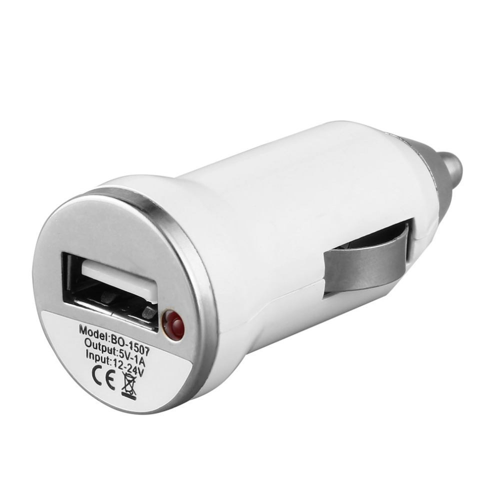 USB <font><b>Car</b></font> <font><b>Charger</b></font> Charging <font><b>Power</b></font> <font><b>Adapter</b></font> Input 12-24V DC Output 5.0V 1000mA for Apple iPod Touch For iPhone image