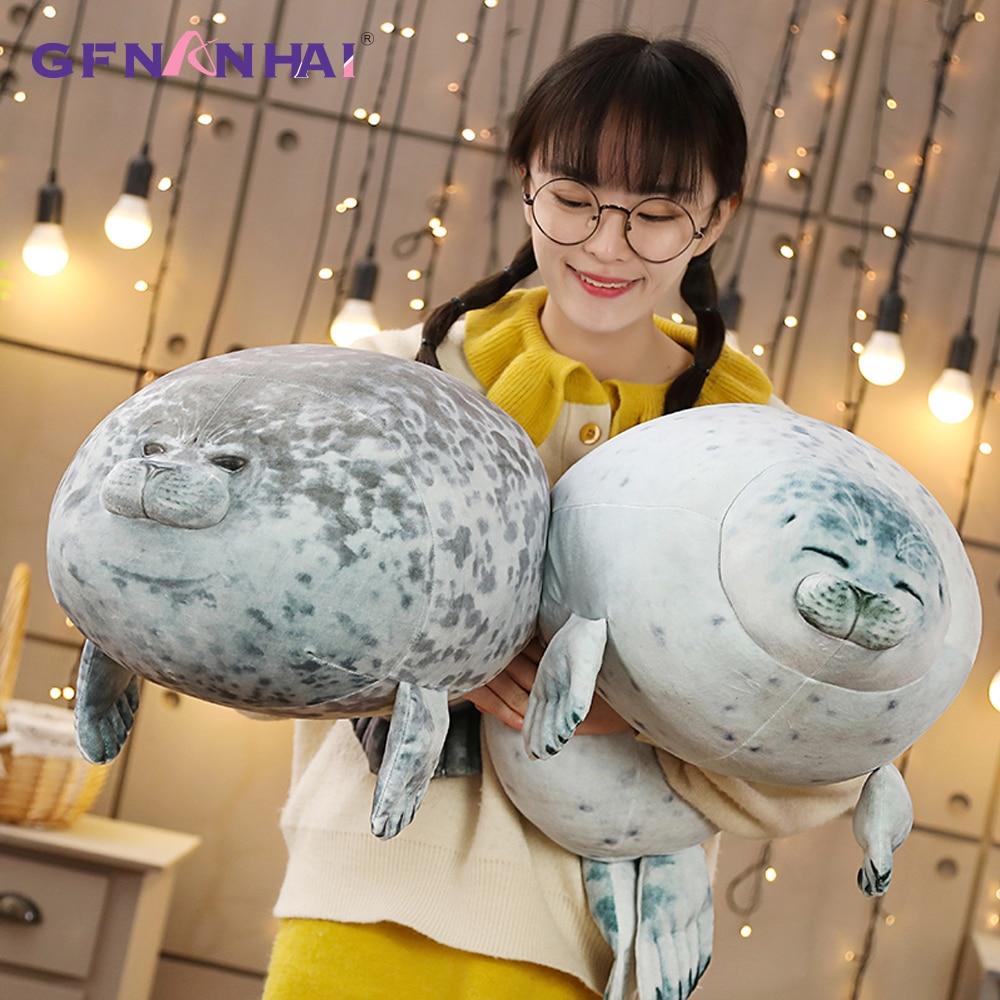 1pc 80CM Soft Large Size Sea Lion Plush Toys Sea World Animal Seal Plush Stuffed Doll Baby Sleeping Pillow Kids Girls Gifts