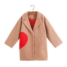 Kids Girls Jackets 2019 New Autumn Winter Solid Full Sleeve Long Trench Outwear