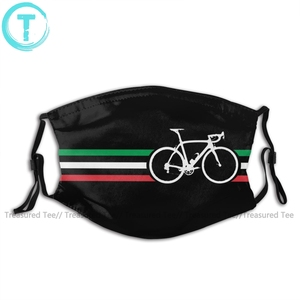 Dogma рот маска для лица для велосипеда в полоску итальянская национальная дорожная гонка V2 маска для лица забавная Kawai с 2 фильтрами для взрос...