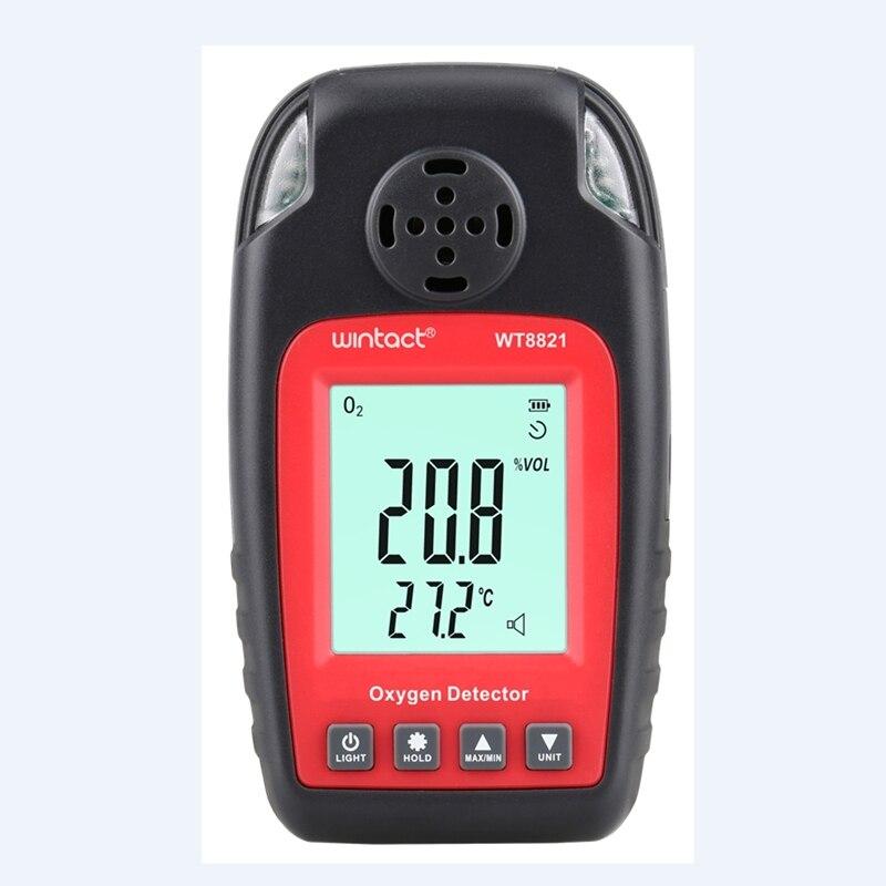 Détecteur d'oxygène Portable affichage LCD automobile Mini O2 moniteur de température de gaz analyseur d'oxygène gaz alarme sonore indicateur sonore