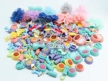 Pet shop Accessories Lot Collars Necktie Necklaces Bone Food Drink Dress Clothes Skirt Bow Lot 30pcs Random Gift Bag