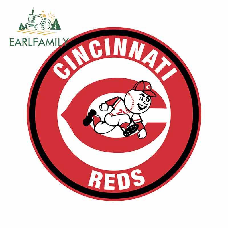 EARLFAMILY 13cm X 13cm For Cincinnati Reds Circle Logo Vinyl Decal Waterproof Car Sticker