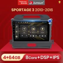 Radioodtwarzacz samochodowy Junsun z ekranem multimedialny odtwarzacz wideo Android Auto CarPlay dla Kia Sportage 3 2010   2016 2 din DVD