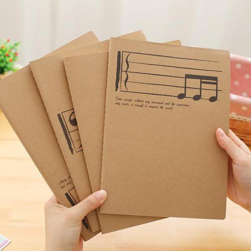 Creative Professional Music Manuscript Paper School Musical Notation Writing Staff Stationery Song Piano Book Notebook Exercise