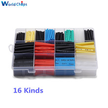 580pcs Polyolefin Shrinking Assorted Heat Shrink Tube 2:1 Wrap Wire Cable Insulated Sleeving Tubing Heat Shrink Tubes with Box
