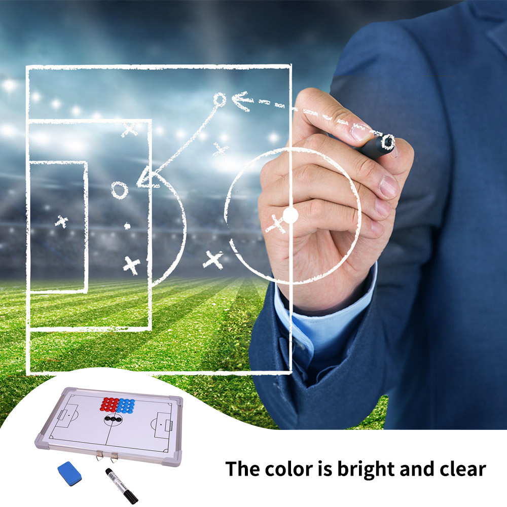 Magnetic Football Tactical Board Training Guidance Hanging Plate Double-Sided Rubber Corners Soccer Tactics Board Coaching Board