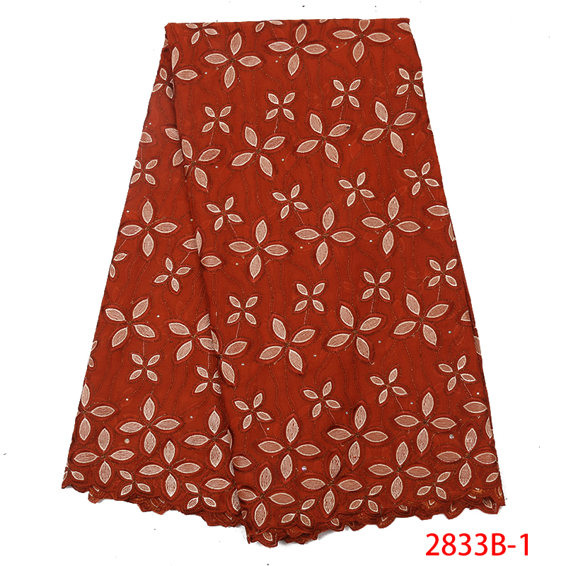 High Quality Swiss Voile Lace In Switzerland2019 African French Voile Lace FabricNigerian Embroidery Dry Lace Fabric KS2833B-1
