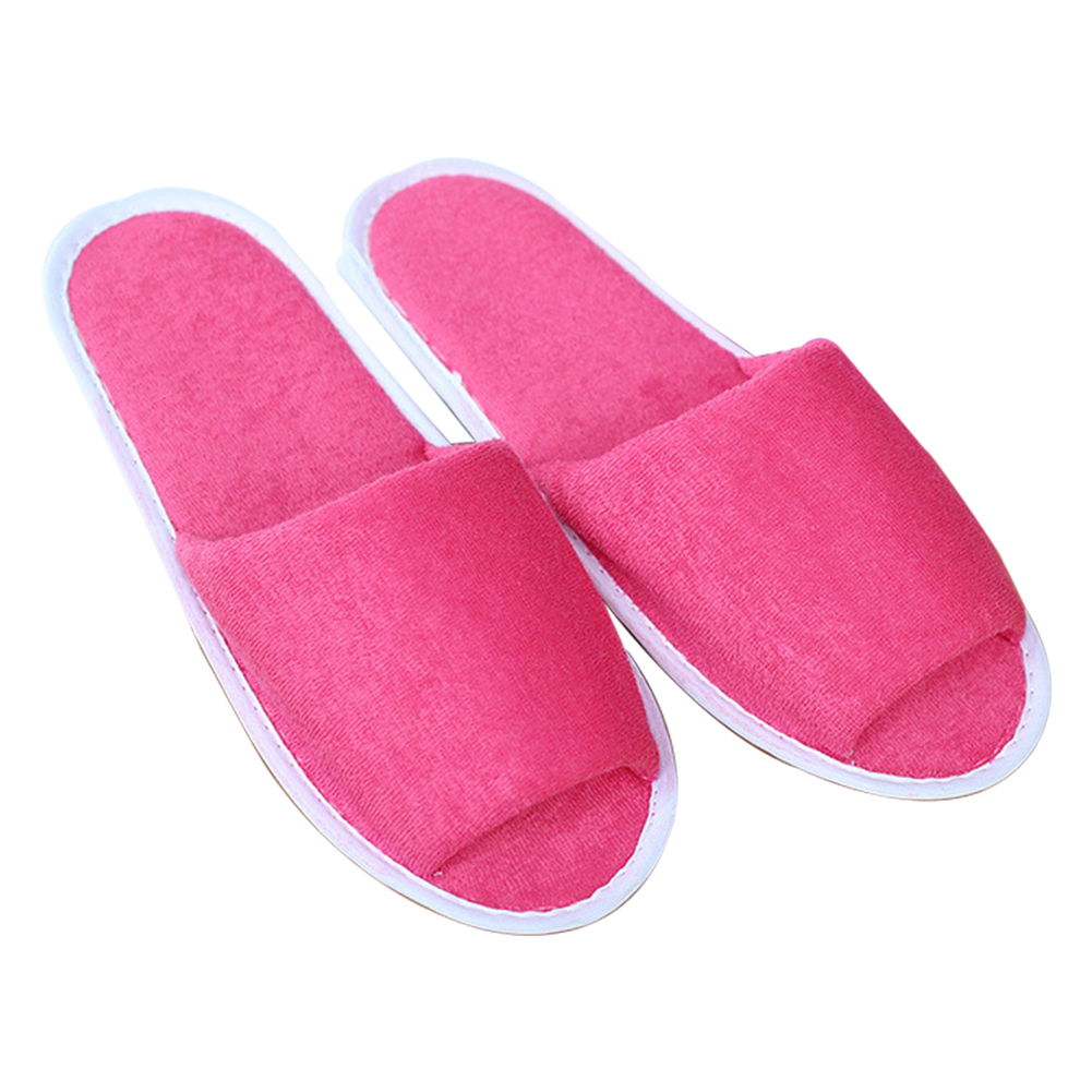 Men Women Indoor Portable House Foldable Soft Hotel Solid With Storage Bag Breathable Spa Travel Guest Slippers Non Disposable
