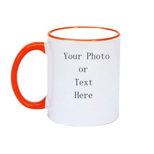 Mug Color Processing Ceramic Cup Custom Picture DIY Photo Couple Friends Family Creative Coffee Gift Buy One Send Blank