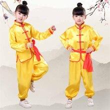 Детская Китайская одежда для кунг-фу, традиционная форма ушу Тай Чи для мальчиков и девочек, китайская культура, костюм Тан, костюмы для выступлений