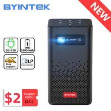 Byintek p20 mini portátil pico inteligente android 1080p led projetor dlp de cinema em casa para smartphone móvel 3d