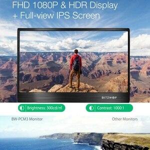 Image 2 - BlitzWolf BW PCM3 15.6 Cal dotykowy FHD 1080P typ C przenośny Monitor LCD do komputera ekran do gier na smartfona Laptop