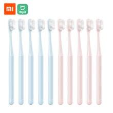 10 יח\חבילה Xiaomi Mijia מברשת שיניים מבוגרים מברשות שיניים רך זיפי אוראלי טיפול למשפחות מבוגרים ילדים בהריון נשים